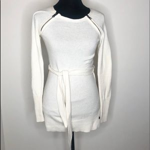 Armani exchange belted sweater EUC xs